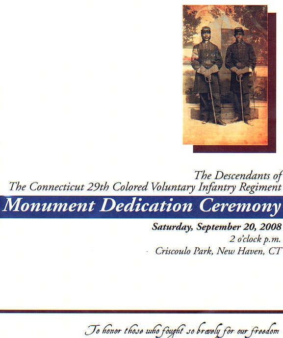 CT 29th descendants dedication program