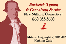 Bostwick Typing Service copyright